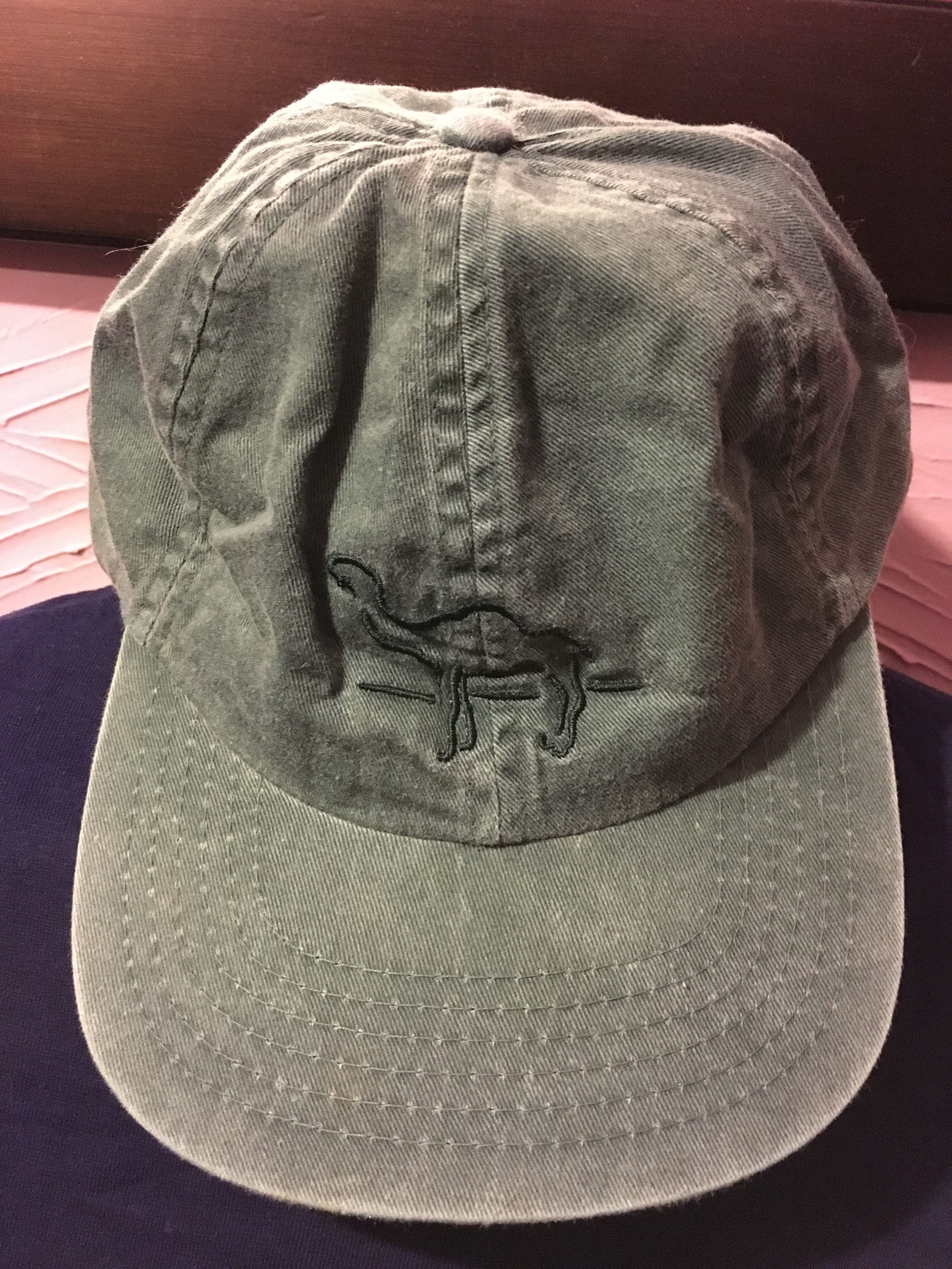 Deadstock Camel Cigarettes Faded Denim Strapback Hat 90 s  5f0fcede9eb
