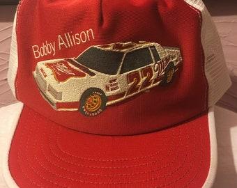 Rare Bobby Allison Miller Buick NASCAR Mesh Snapback Hat 80's