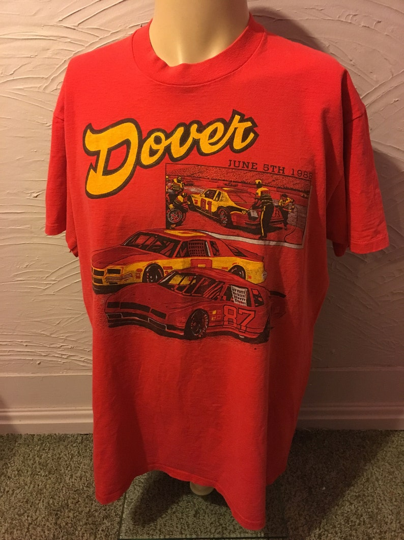 79f99afd Rare NASCAR Dover Budweiser 500 1988 T-Shirt L/XL 80's | Etsy