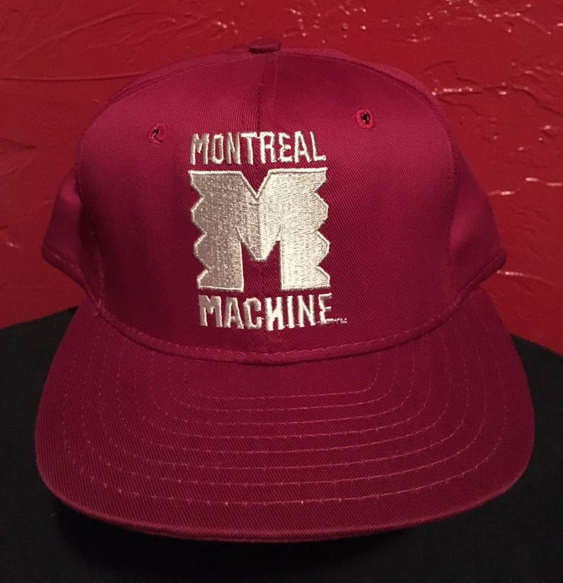 Deadstock Montreal Machine WLAF Snapback Hat 90 s Football  24abe5a88d19