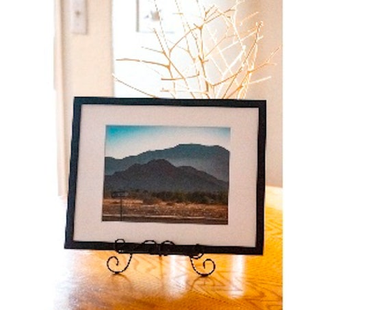 One Way Sign,  Color Photograph, White Mat and Black Frame , 11x 14 Photograph, 5 x 7 Photograph