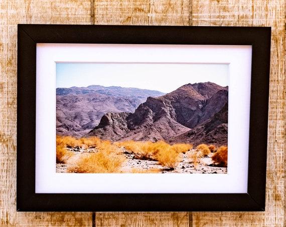 Desert Hills, Color Photograph, Wall Decor, White Mat, Black Frame, 5 x 7 Print