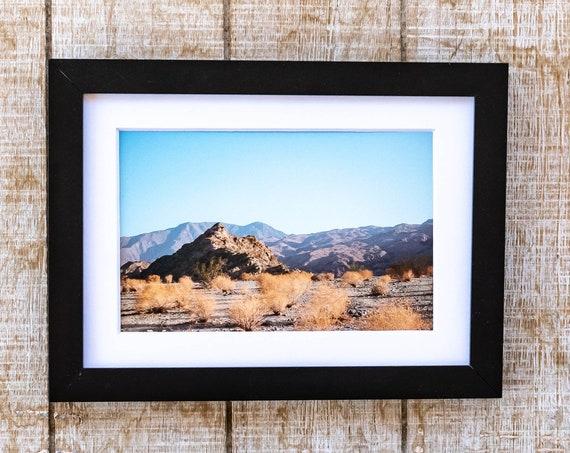 Desert Landscape, Color Photo, Wall Decor, White Mat, Black Frame, 5 x 7 Print
