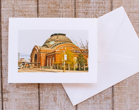 Union Station, Greeting Card, Blank Card, Envelope, 5.5 x 7.5 Card