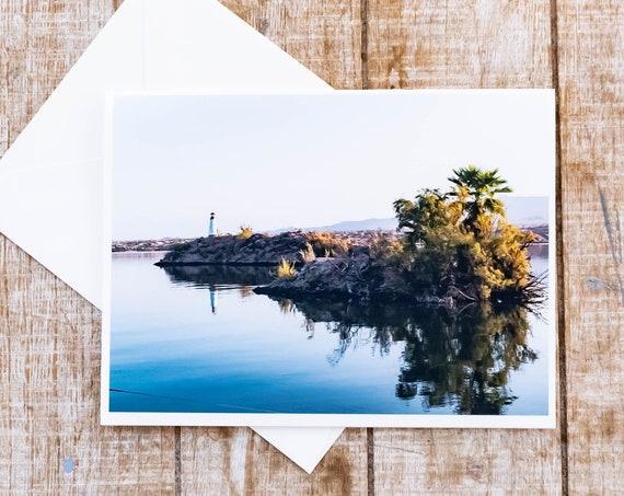 Lighthouse Card, Greeting Card, Photo Card, Lake Havasu, 5 x 7 Card