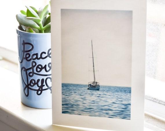 Color Photo Greeting Card, Sailboat Greeting Card, 5 x 7 Greeting Card, Blank Card