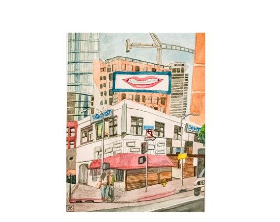 Los Angeles Digital Download, Urban Sketch, Wall Decor