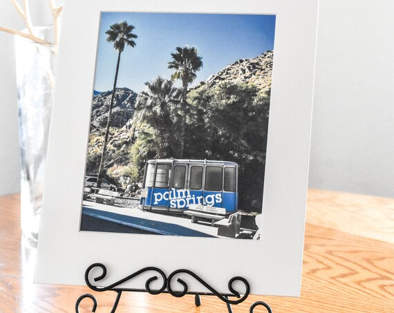 Palm Springs Retro Tram Car, Color Photo, White Mat, 11 x 14 Photo, 5 x 7 Photo