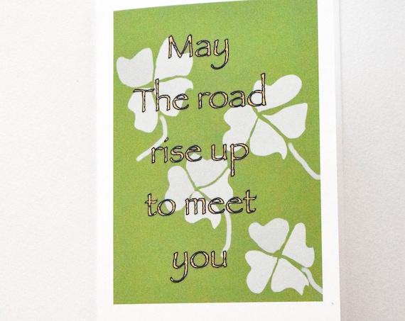 Irish Blessing Card, St. Patrick's Day Greeting Card, Blank Card, 5 x 7 Card
