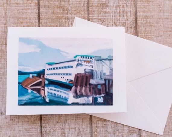 Washington State Ferry Greeting Card