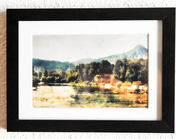 Wenatchee River, Color Photo, Wall Decor, White Mat, Black Frame, 5 x 7 Photo
