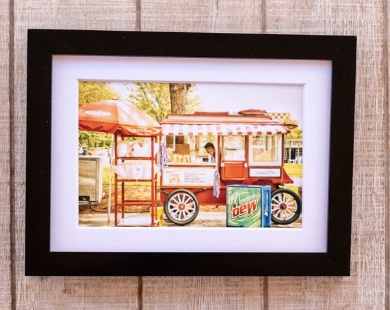 Snack Cart, Color Photo, Wall Decor, White Mat, Black Frame, Rustic Frame, 5 x 7 photo, 8 x 10 photo