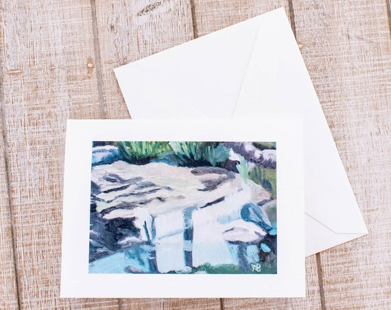 Shield's Pond, Greeting Card, Oil Painting Print, 5.5 x 7.5 Card, Envelope