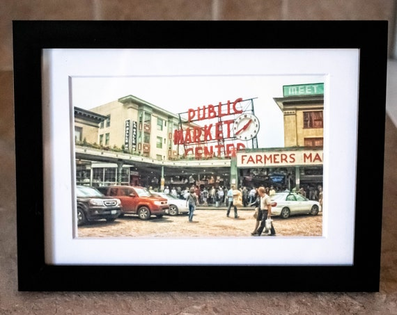 Farmer's Market, Wall Decor, Color Photo, White Mat, Black Frame, 5 x 7 Photo
