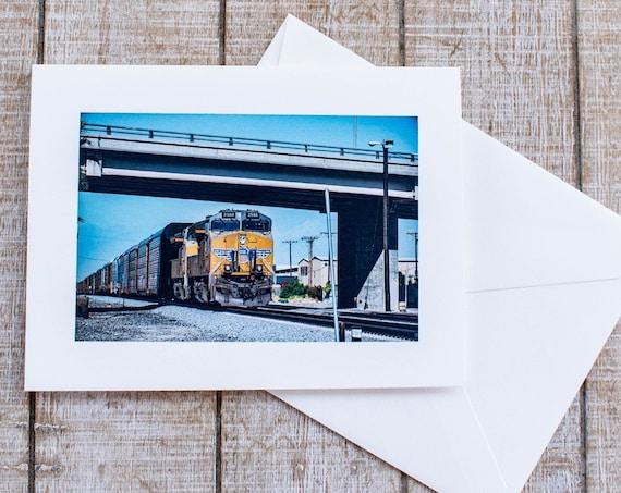 Indio Train, Greeting Card, Blank Card, Matching Envelope, 5.5 x 7.5 Card