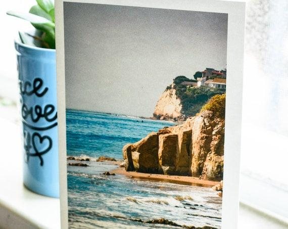 Pacific Coast Malibu, Photo Greeting Card, Malibu Greeting Card, Blank Card, Beach Card, 5 x 7 card