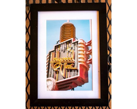 Hollywood & Vine Sign, Color Photograph, White Mat and Black Frame, 5 x 7 Photograph, 11 x 14 Photograph