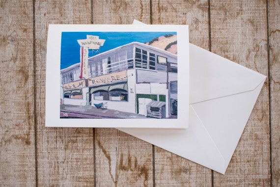 Malibu Hardware Store, Greeting Card, Oil Painting Print, Blank Card, 5 x 7 Card