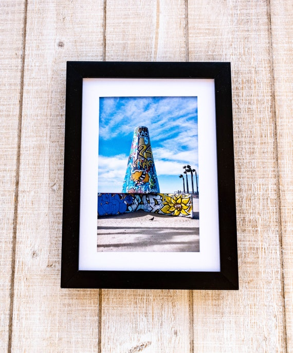 Venice Beach, Graffiti Photo, Color Photo, Wall Decor, White Mat, Black Frame, Rustic Frame, 5 x 7 Photo, 8 x 10 Photo, 11 x 14 Photo