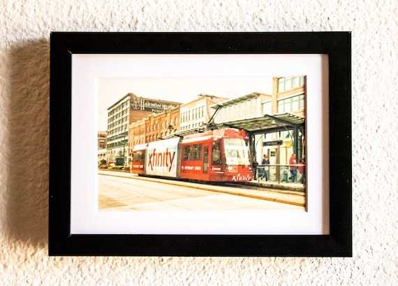 Tacoma Trolley, Color Photograph, Wall Decor, White Mat, Black Frame, 5 x 7 Photo, 8 x 10 Photo