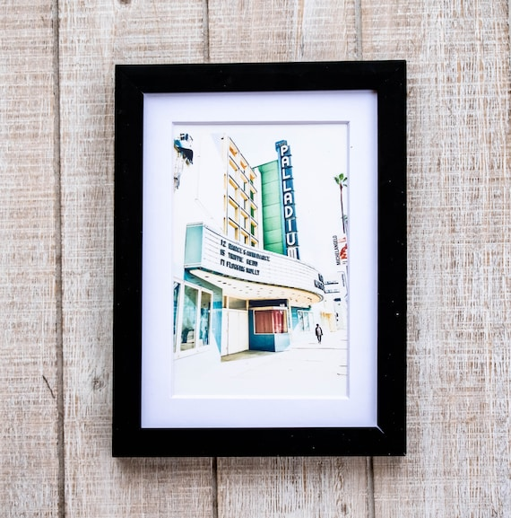 The Palladium, Hollywood Photo, Color Photography, White Mat, Black Frame, Rustic Frame, 5 x 7 Photo, 8 x 10 Photo, 11 x 14 Photo