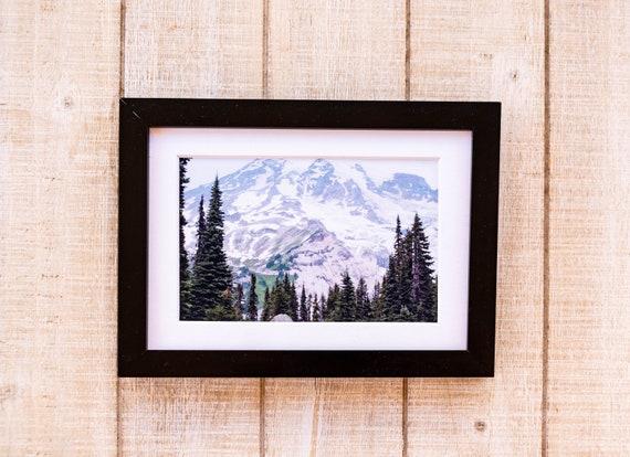 Mount Rainier, Color Photo, Wall Decor, White Mat, Black Frame, Rustic Frame, 5 x 7 Photo, 8 x 10 Photo