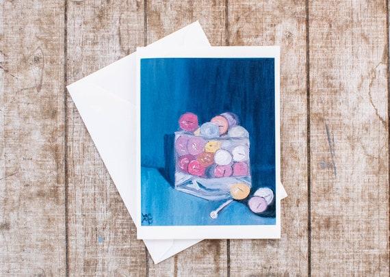 Golf Balls, Greeting Card, Oil Painting Print, 5 x 7 Card