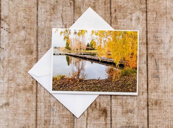Peaceful Lake, Greeting Card, Photo Card, Blank Card, 5 x 7 Card