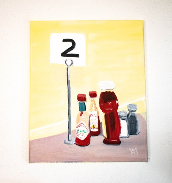 Maxcy's Grill, Oil Painting, Original Painting, Diner Painting, Cotton Canvas, 16 x 20 Painting
