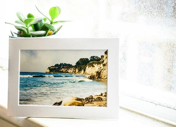 Seascape Photograph, Color Photograph, Landscape Photo, Wall Art, White Mat, 5 x 7 Photo