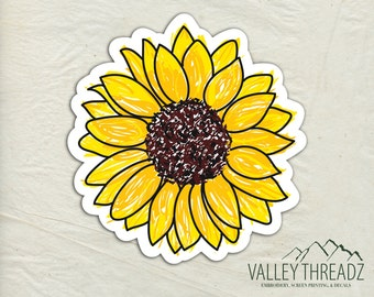 Sunflower Decal - Sunflower Vinyl Sticker - Sunflower Sticker - Car Window Decal - Sticker - Flower Sticker - Laptop Sticker - Tumbler Decal