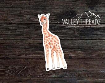 Giraffe Decal - Giraffe Vinyl Sticker - Watercolor Giraffe Decal - Car Window Decal - Laptop Sticker - Tumbler Decal