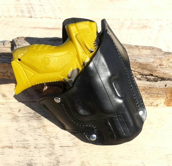 Custom built OWB leather holster for the Ruger American 9mm compact