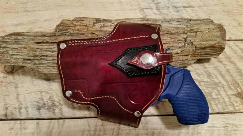 Custom built leather OWB holster for Taurus Judge 2