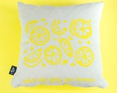 Cushion lemon silkscreen ...