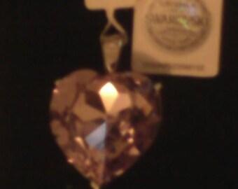 Lavender Swarovski Heart Pendant