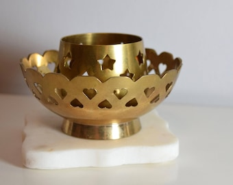 Brass Candle Holder with 2 Separate Pieces