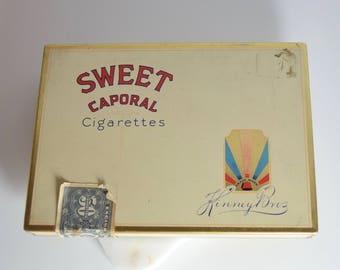 Vintage Sweet Caporal Cigarettes Tin // Vintage Tin