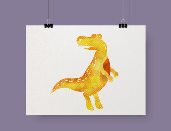 Dinosaur decor Dinosaur print Kids room decor Nursery wall art