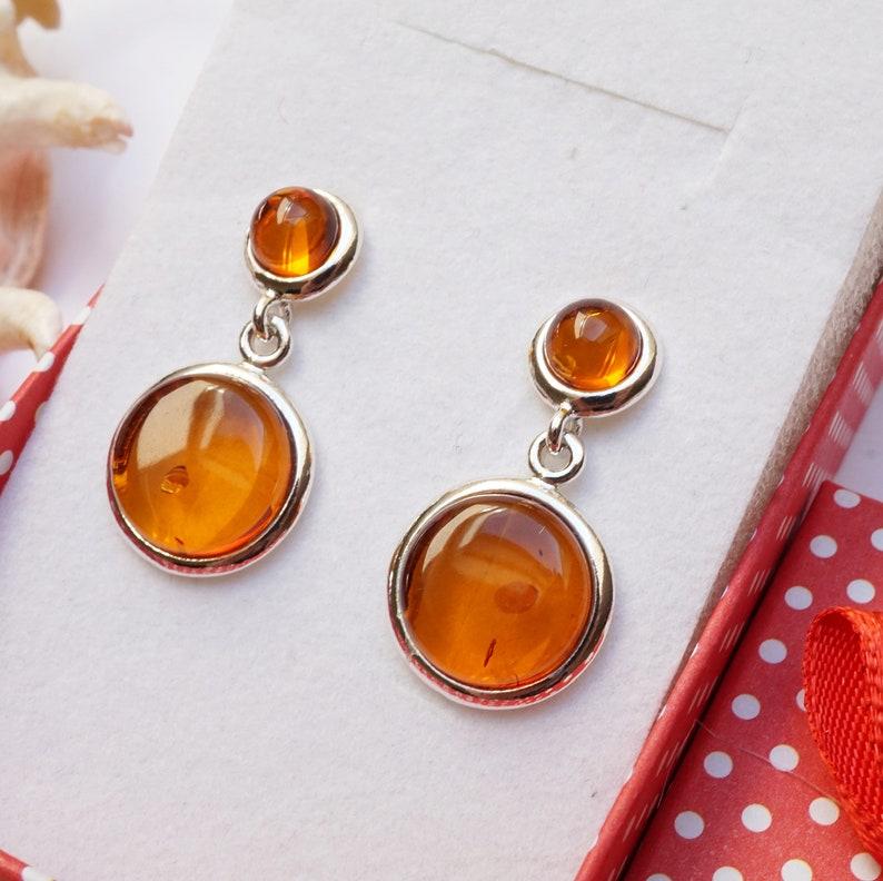 Cognac Amber Earrings Amber Dangle Earrings,Organic Gift Amber Earrings Natural Baltic Amber Earrings Amber And Sterling Silver Earrings