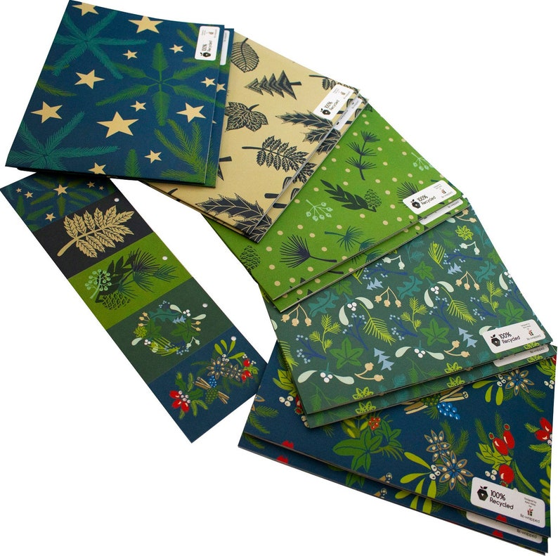 100% Recycled Christmas Kate Heiss Berries Large Pack ECO Mixed Large Pack