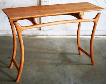 Beau Sculpted Console Table With Curved Legs