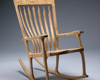 More Colors. Curly Maple Rocking Chair