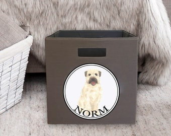 "Personalized Wheaten Terrier 13"" Storage Bin"