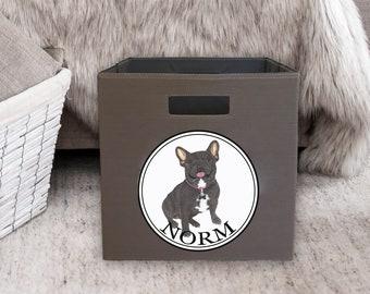 Black / Brindle French Bulldog Storage Bin
