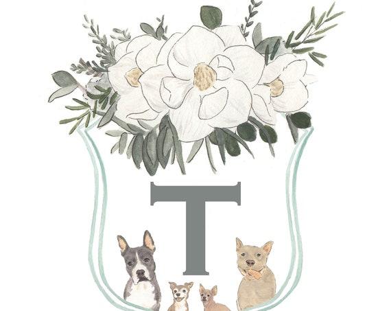 Custom Watercolor Family Crests