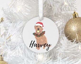 Personalized Golden Doodle Christmas Ornament