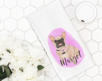 Custom Pet Painting Tea Towel