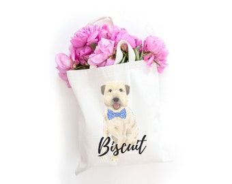 Personalized Wheaten Terrier Tote Bag