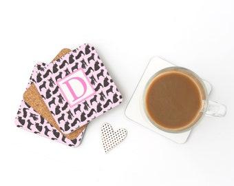 Black / Brindle French Bulldog Pattern Coasters